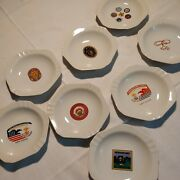 Lot Of 8 Vintage 80's Boy Scouts Ashtray Dishes Plates Tahquitz Long Beach Etc.