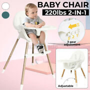 Baby High Chair Transparent Infant Highchair Convertible Kids Dining Snack Se