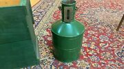 Vintage Ellisco Gas Service Station Test Measure 5 Gallon Metal Can And Box Wow