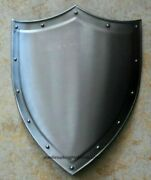 Medieval Reproduction Templar Armor Shield Made Solid Steel 19x34 Inch W Chain