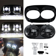 Motorcycle Projector Dual Led Headlight For Harley Davidson Road Glide Headlamp