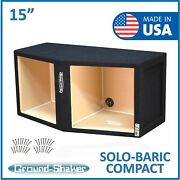 15 Dual Sealed Solo-baric Box / Dual 15 Subwoofer Enclosure Ground Shaker