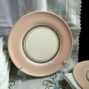American Limoges Federal Coral Pink Candle Light With 22k Gold Dinnerware