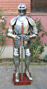 Vintage Medieval Wearable Knight Armor Crusader Full Body Halloween Costume