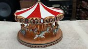 Mr. Christmas Gold Label Collection World's Fair Carousel Good Condition