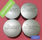 Set Of 4 2005-2016 Silver Jeep Center Caps 5ht59trmac 52090401ab 56mm 2-1/8