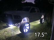 17.5'' Double Row Led Wheel Lights White Rim Lights For Truck Switch Controller