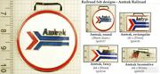 Amtrak Railroad Decorative Fobs Various Designs And Leather Strap Options