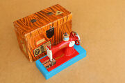Vintage Miniature Child's Sewing Machine Children Toy Soviet Early 1960's Boxed