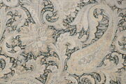 4 Drapes Vintage Paisley Drapes, In Shades Of Charcoal And Ecru, Limited Edition