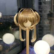 Cardcaptor Sakura Double Tails Finished Wig Hair Fit For 1/3 1/4 1/6 Bjd Doll