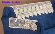 New 3 Pc Sofa Crocheted Doily Set Of 3 Doilies Made In Usa