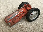 Hubley Vintage Red Toy Metal Farm Tractor Incomplete As Is Metal Parts C.1950-60