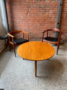1950s Teak And Oak Coffee Table By Hans Wegner For Andreas Tuck