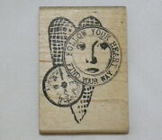 Face Compass Collage Rubber Stamp Invoke Arts Follow Your Heart Find Your Way
