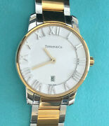 And Co. Ladies Atlas Dome Watch 18k Gold Stainless Steel