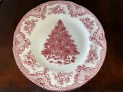 Johnson Bros Old Britain Castles Pink Christmas Tree 1 Salad And 2 Dinner Plates