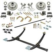 48and039 Gasser Chevy Axle/spindle/brake Kit Wilwood Forged Calipers
