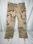 Us Army Military Trousers Pants Combat Desert Camouflage Camo Sz Med Regular