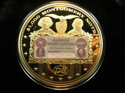 Xxl Gold Plated Proof Coin Civil War 1000 Csa 1861 Montgomery Banknote 465