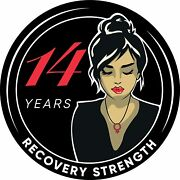Woman Serenity 14 Year Aa/na Sobriety Medallion - Tri-plate Fourteen Year Chip/c