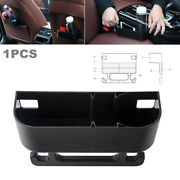 1pc Car Suv Seat Back Crevice Cup Holder Case Water Drink Stand Food Storage Box