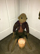 Extremely Haunted Stuffed Monkey Doll - Old Looking And Possibly Rare