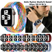 For Apple Watch Series 6 Se 5 4 3 2 1 Nylon Braided Solo Loop Band Sport Strap