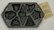 Deadstock Vintage 90s John Wright Cast Iron Candy Mold Cookie Baking Tray