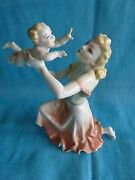 Hutschenreuther Germany Motherand039s Darling Baby And Mom Figurine Signed K. Tutter