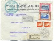 Italy Italian Ride 6 Zeppelin Stamps Franked On 3 Covers Certificate Caffaz 1933