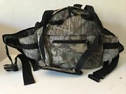 Camouflage Fly Fishing Pack Camo Chest Fanny Waist Bag Multi Compartment Used