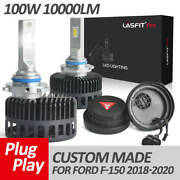 Lasfit 9005 High Beam Led Headlight Bulbs For Ford F-150 2018-2020 10000lm 100w