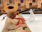 Rare Caminetto 1990 Christmas Tobacco Pipe And/or Ornament With Bag