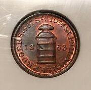 Philadelphia Pa750p-1a Ngc Ms-64 Rb - F.p. Rogers Milk Cans And Dairy Fixtures