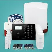 Homsecur Wirelessandwired 4g Lcd Home Security Alarm System With Smoke Detector