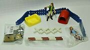 Schleich Lot Puppy Pen Replacement Parts, Horse Jumps, Donkey And Stable Girls