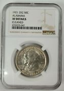 1921 2x2 Us Alabama 50 Cents Ngc Xf Details Cleaned