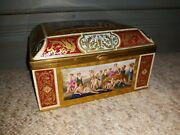 Antique Royal Vienna  Decorated Porcelain Box Exceptional Quality