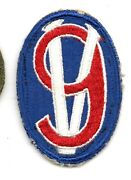 95th Infantry Division Us Army Patch Ssi Ww2 Original -