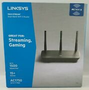 Linksys Max Stream Dual Band Ac1750 Wifi 5 Router, Black Ea7250 - Open Box