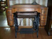 Vintage National Sewing Machine Cabinet