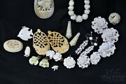 Fine Artisan Carved Ocean Jewelry 24 Asst Pcs Must See Estate Find 18850