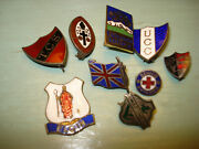 Eight Canadian Scout College Badges Sterling Silver