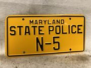 Vintage 1970andrsquos Maryland State Police License Plate