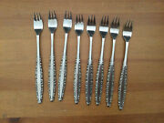 Oneida Northland Silverware Love Story 8 Stainless Seafood Cocktail Forks Japan