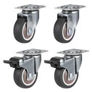 30x4pack 2inch Furniture Crib Casters Cabinet Clamp With Brake Wheels Soft