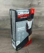 Grease Monkey Black Nitrile Gloves - Large 100 Pack Priority Shipping Us Seller