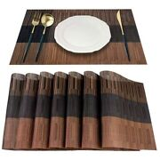 30xplacemat 8 Woven Vinyl Placemats Per Group Bamboo Pvc Insulation Mat Meal