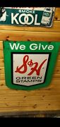 Vintage We Give Sandh Green Stamps Two Sided Metal Sign
